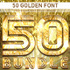 50 Golden Font_Bundle - GraphicRiver Item for Sale