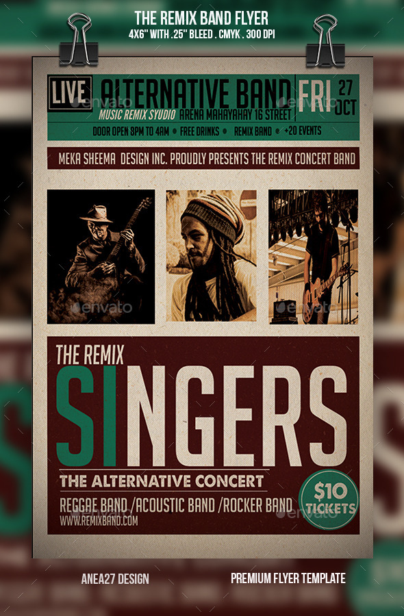 The Remix Band Flyer - Concerts Events