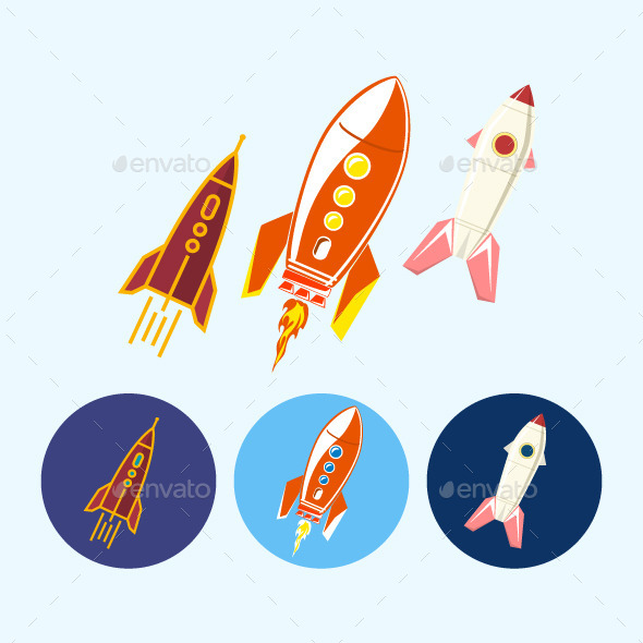 Rocket Icons - Decorative Symbols Decorative
