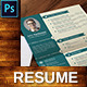 Vintage Resume CV - GraphicRiver Item for Sale