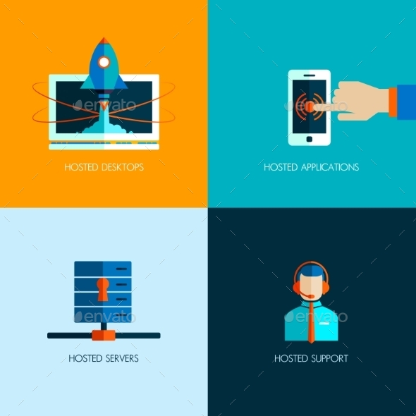 Set of Business Icons - Computers Technology