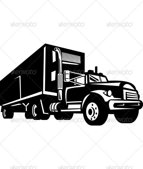 Container Van Truck - Industries Business