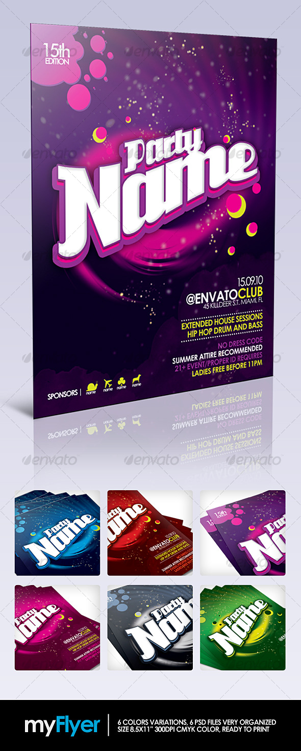 myFlyer - Party Celebration Flyer - Clubs & Parties Events
