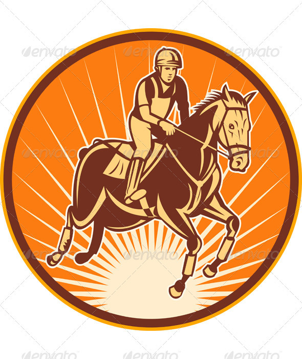 Equestrian And Horse Show Jumping - Sports/Activity Conceptual