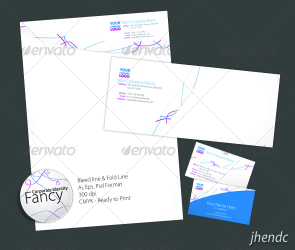 Fancy Corporate Identity - Stationery Print Templates