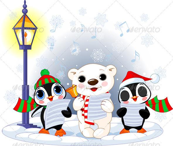 Christmas carolers  - Christmas Seasons/Holidays