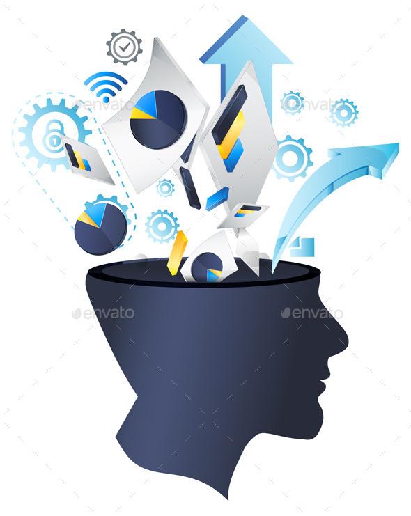 Business Data Process Services - Illustration - Concepts Business