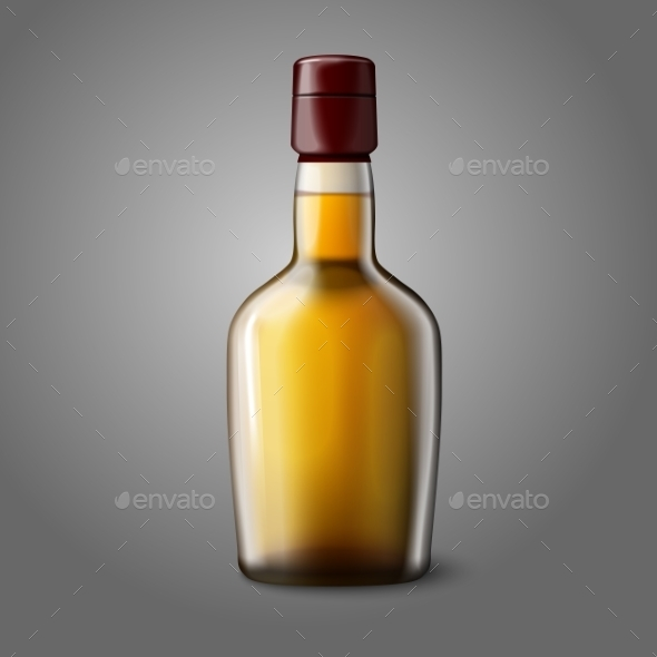 Blank Realistic Whiskey Bottle  - Man-made Objects Objects