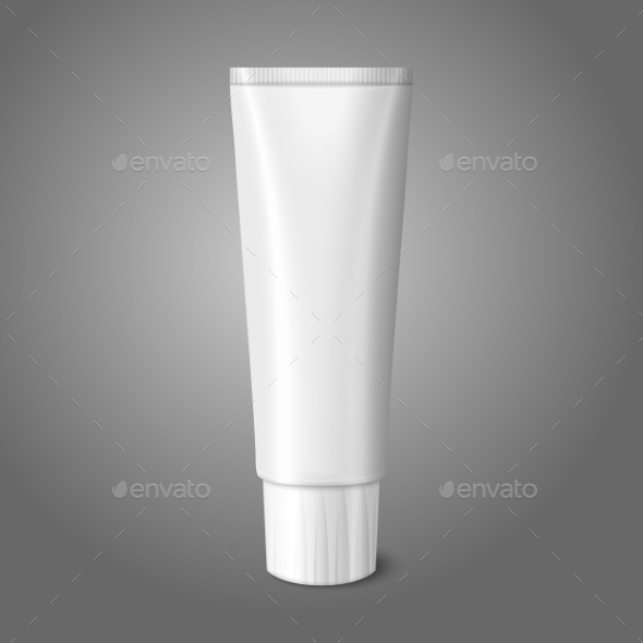 Blank White Realistic Tube for Toothpaste - Man-made Objects Objects
