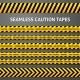 Set of Black and Yellow Seamless Caution Tapes - GraphicRiver Item for Sale