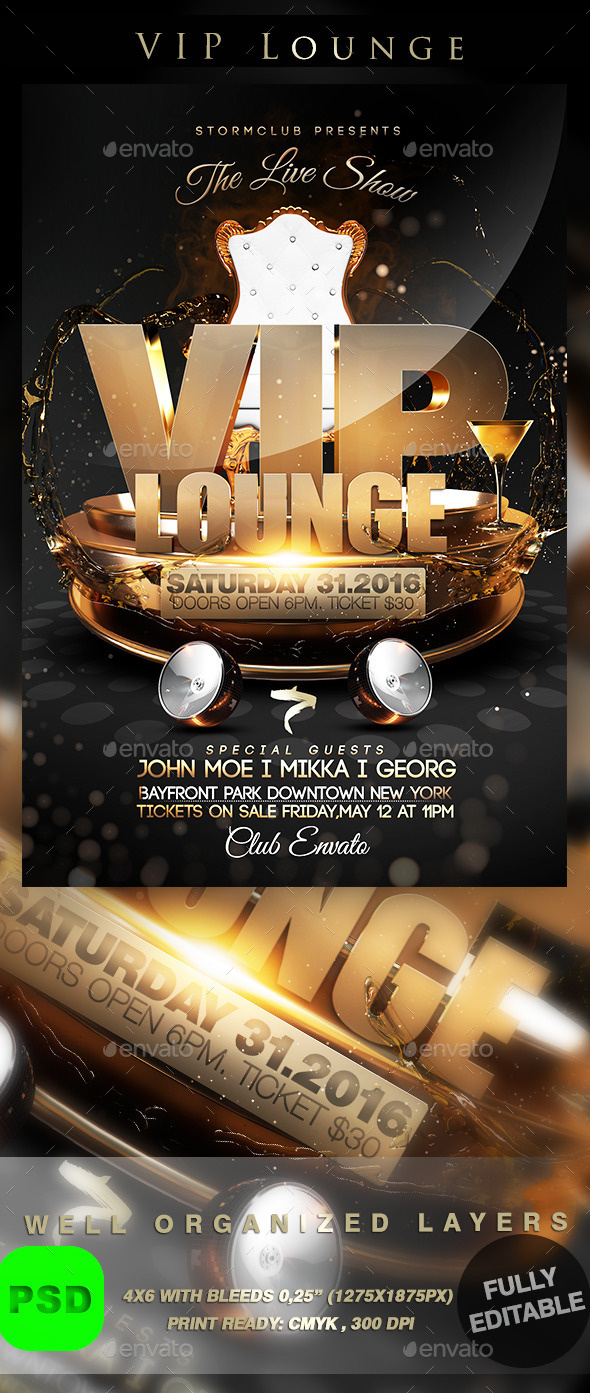 VIP Lounge - Events Flyers