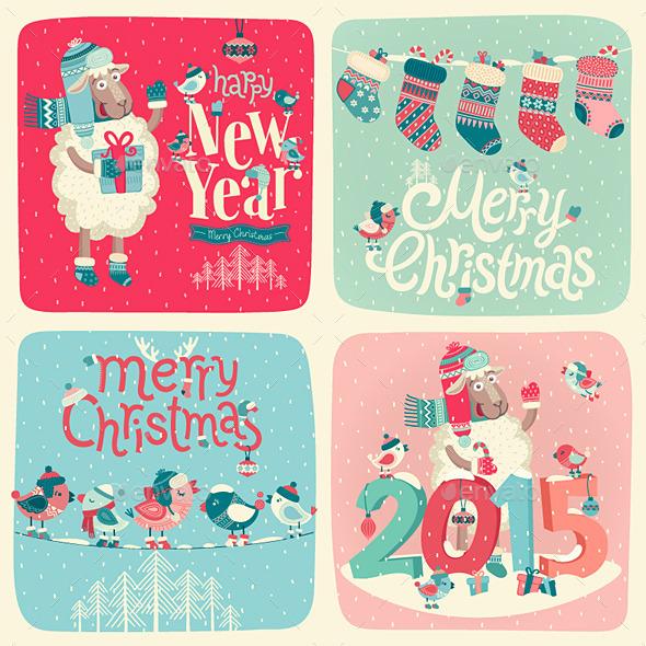 Christmas Postcards Set - Christmas Seasons/Holidays