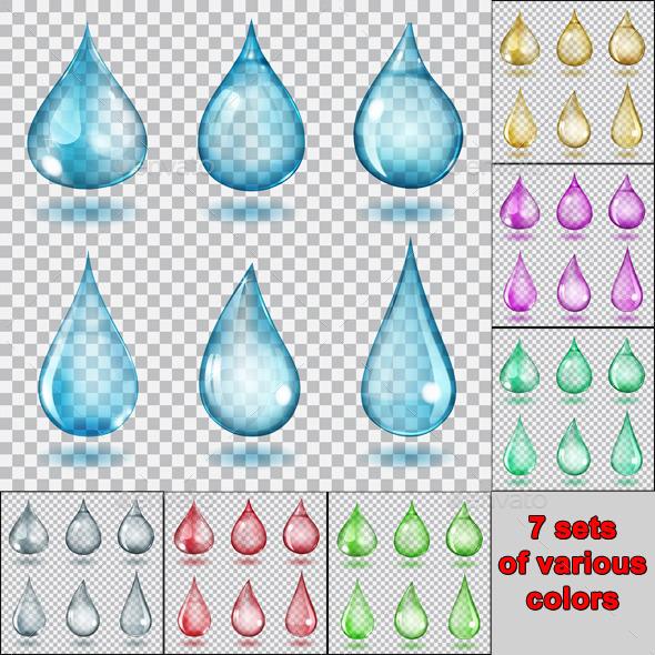Transparent Drops - Miscellaneous Vectors