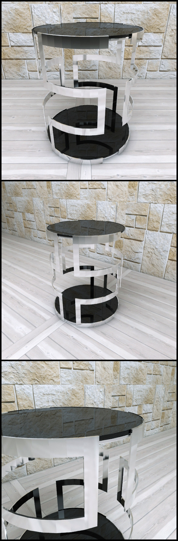 Andrew Martin: Visconti Side Table - 3DOcean Item for Sale