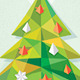 Christmas and New Year Card / Origami Tree - GraphicRiver Item for Sale