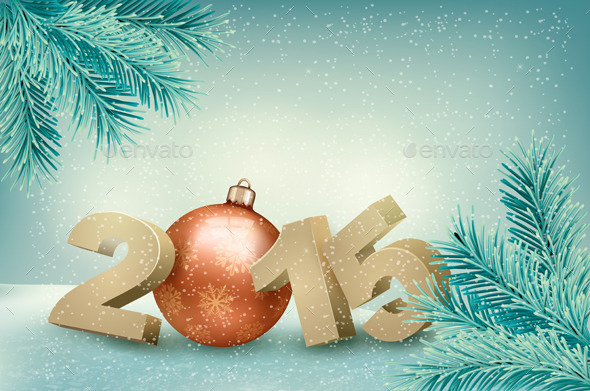 Christmas Background with a 2015 - New Year Seasons/Holidays