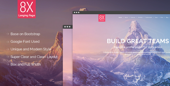 8X Super Landing Page - Creative Landing Pages