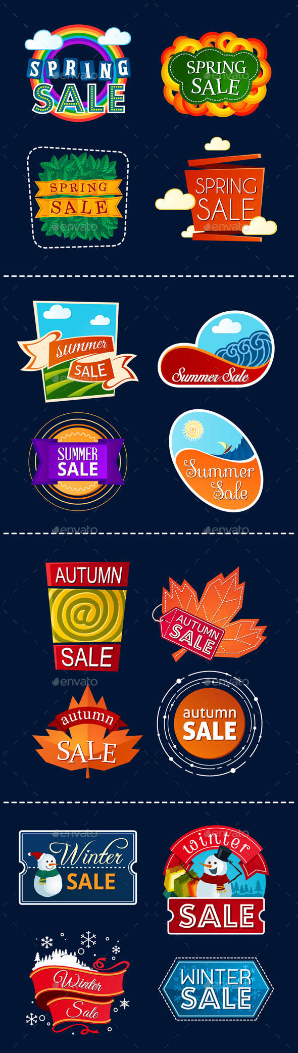 Various Seasonal Sale Event Title - Seasons/Holidays Conceptual