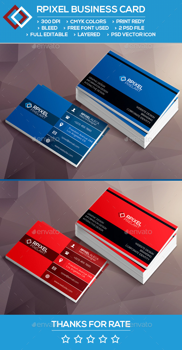 Rpixel Business card - Corporate Business Cards