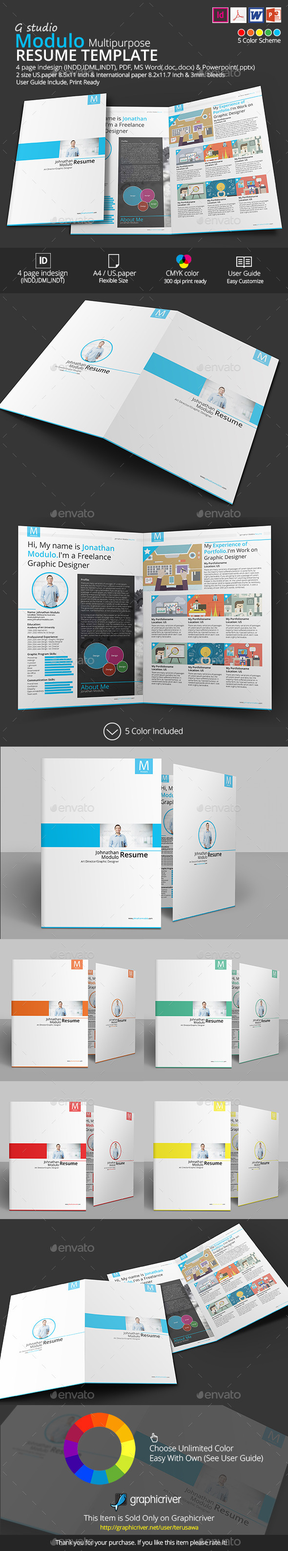 Modulo Resume Template - Resumes Stationery