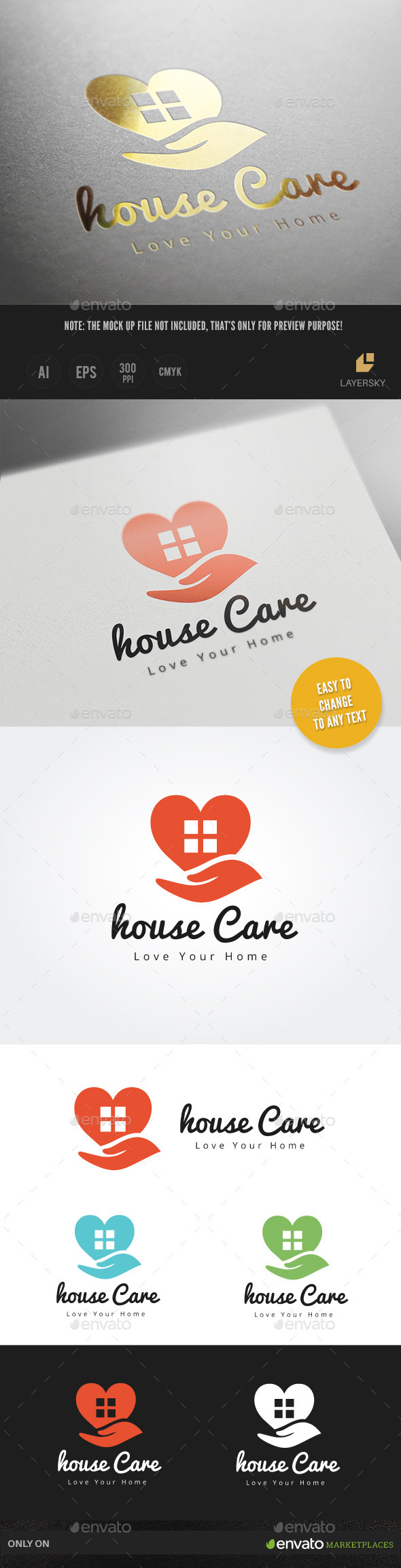 House Care - Buildings Logo Templates