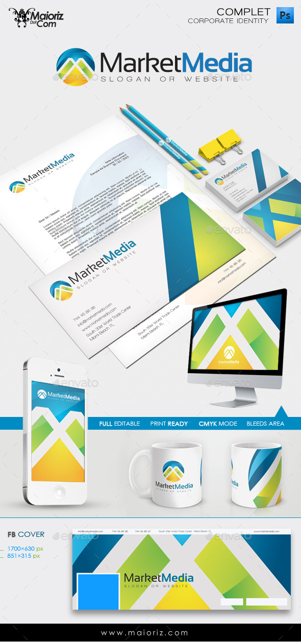 Corporate Identity - Market Media - Stationery Print Templates