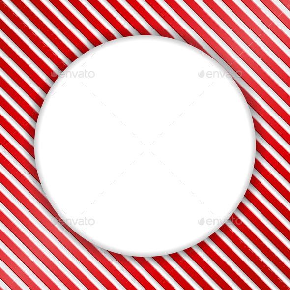 Round Banner on Striped Background - Backgrounds Decorative