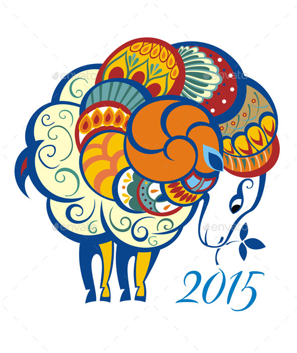 Ornament and Decorative Sheep - Animals Characters
