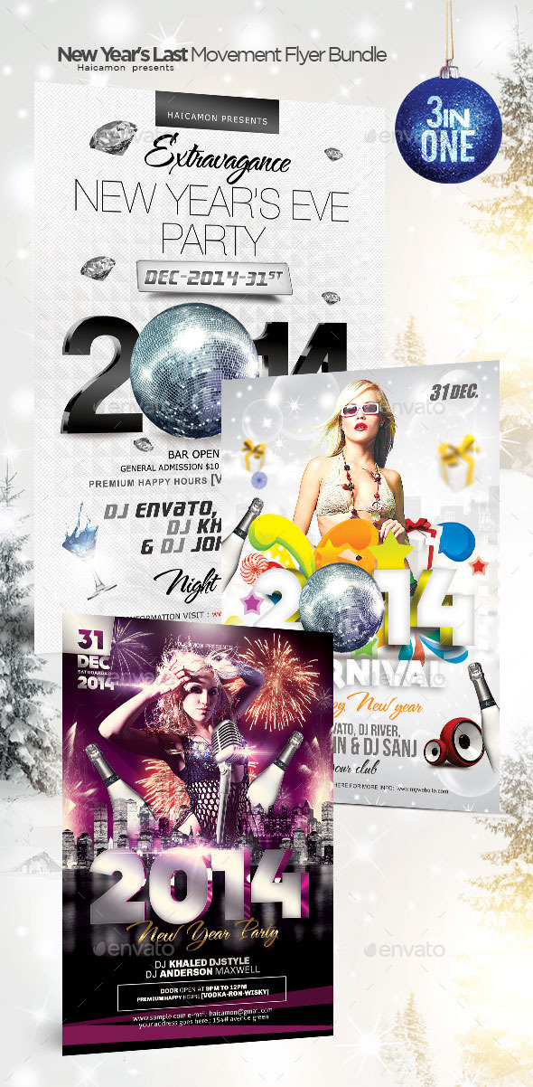 New Year's Last Movement Flyer Bundle - Clubs & Parties Events