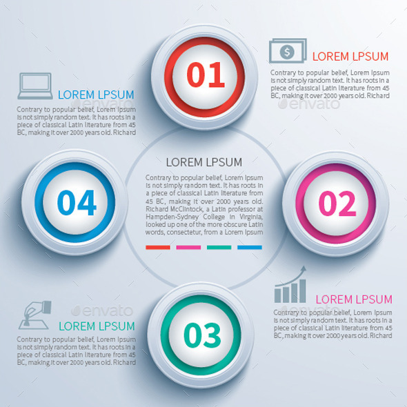 Paper Circle Infographic - Infographics