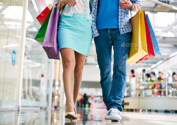 Consumers in the mall - Stock Photo - Images