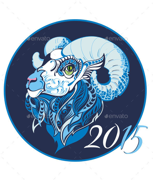 Symbol of 2015 Year - New Year Seasons/Holidays