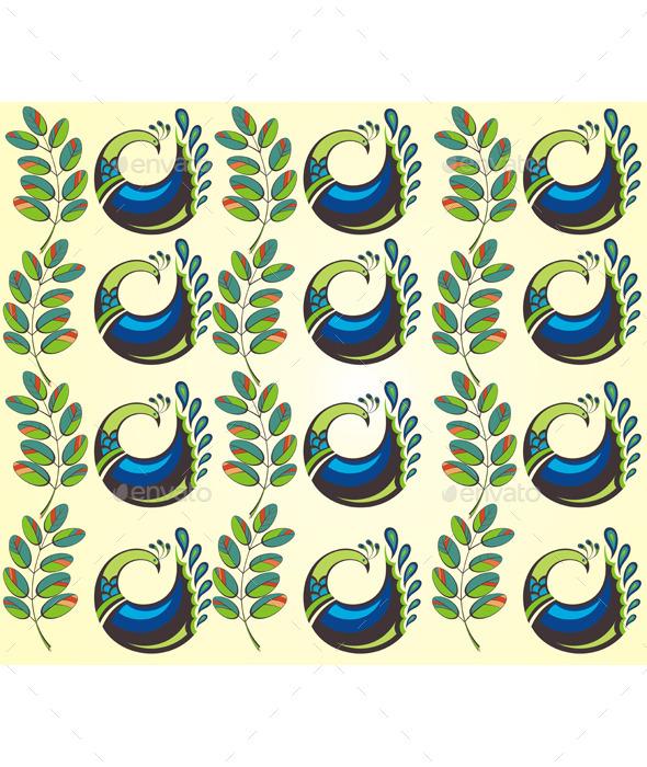 Peacocks - Backgrounds Decorative