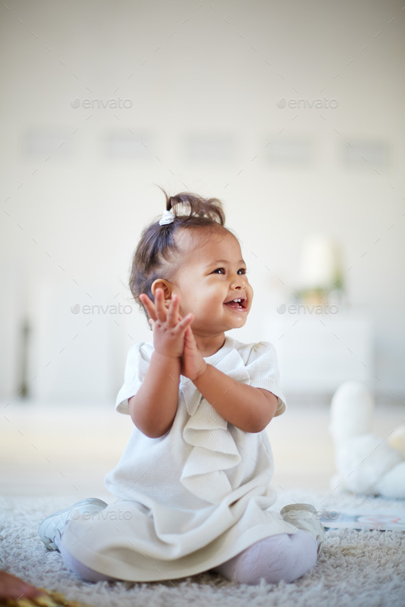 Playful infant - Stock Photo - Images
