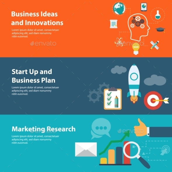 Flat Design Concepts for Business and Marketing - Concepts Business