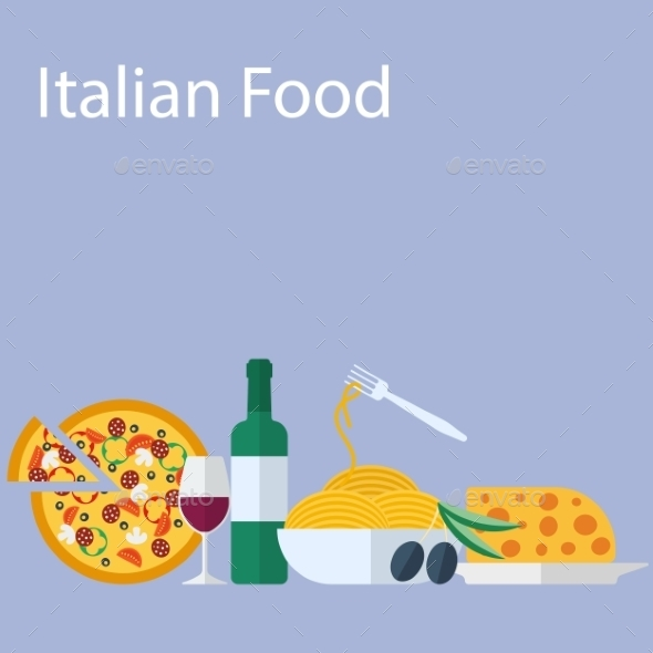 Italian Food Background - Food Objects