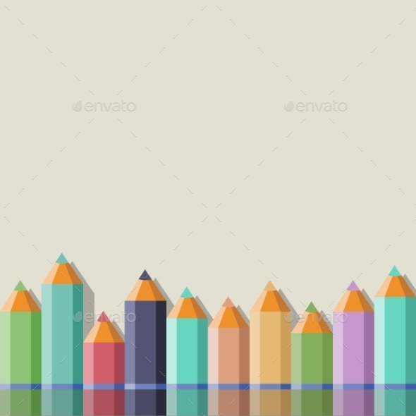 Background with Color Pencils - Backgrounds Decorative