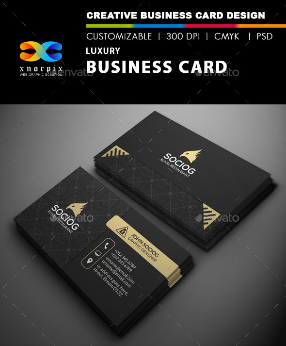Luxury business card by axnorpix graphicriver luxury business card reheart Image collections
