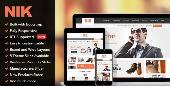 Nik – Responsive Multi-Purpose Prestashop Theme