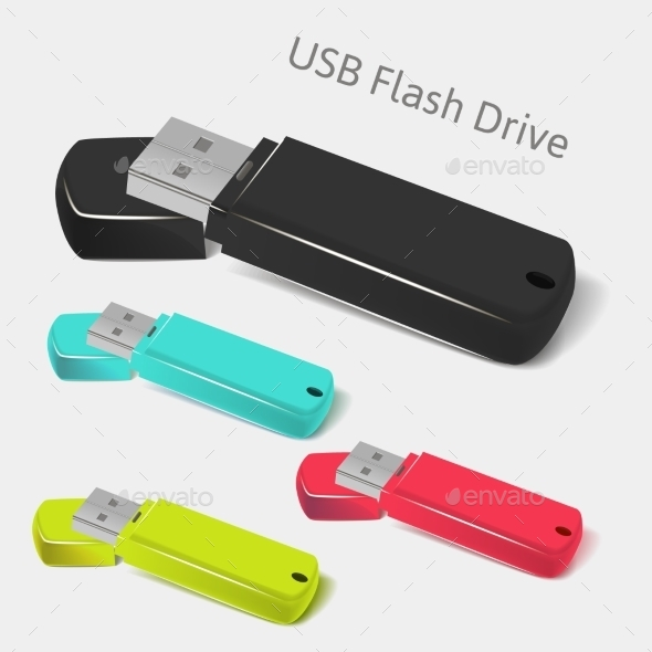 Universal Flash Drive - Objects Vectors