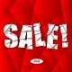 Sale Cut Paper Poster on Red Background - GraphicRiver Item for Sale