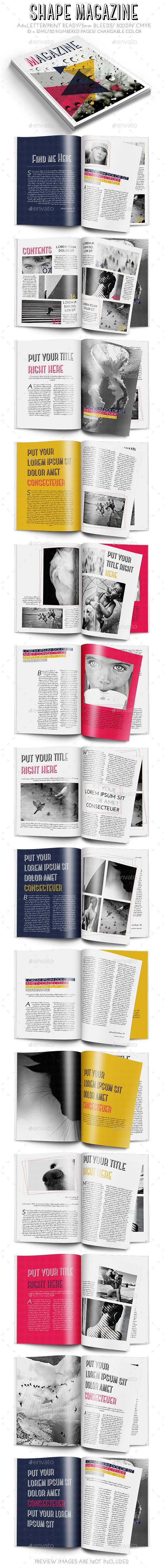 Shape Magazine - Magazines Print Templates