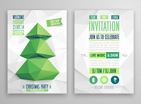 Christmas Card Geometric Style - Christmas Seasons/Holidays