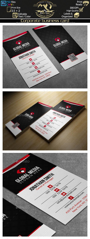 Corporate Business Card 61 - Corporate Business Cards