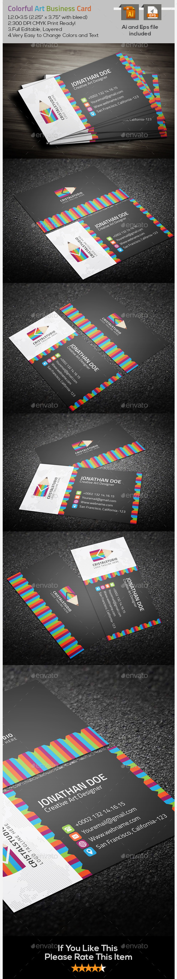 Colorful Art Business Card - Creative Business Cards