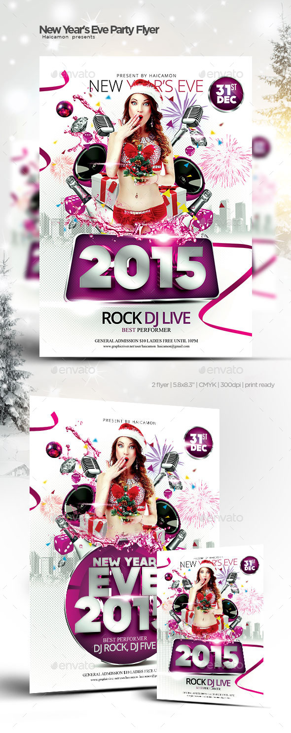 New Year\'s Eve Party Flyer by haicamon | GraphicRiver