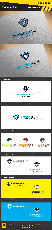 Diamond Blog Logo Template - Symbols Logo Templates