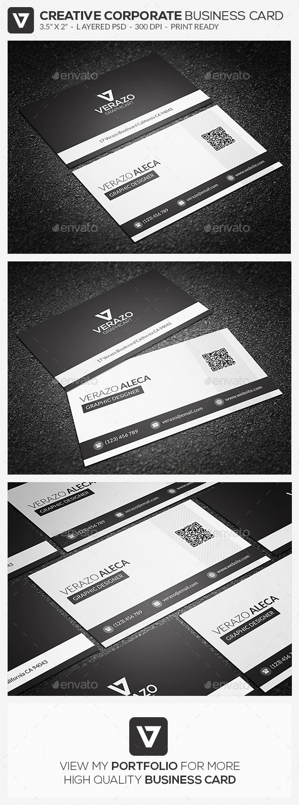 Clean Corporate Business Card 64 - Corporate Business Cards