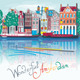 City view of Amsterdam canal Illustration - GraphicRiver Item for Sale