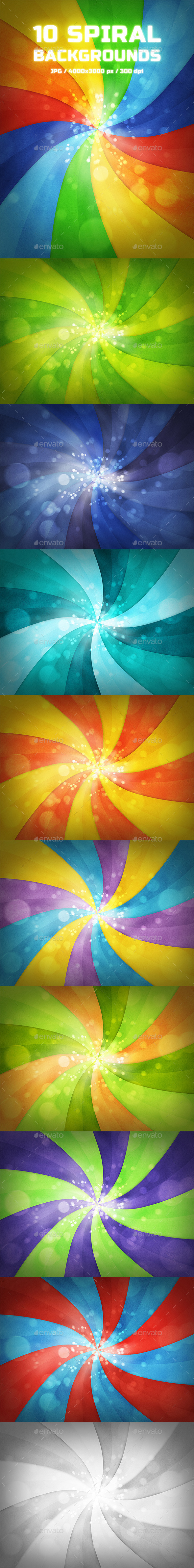 10 Spiral Backgrounds - Abstract Backgrounds